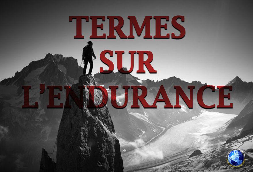 Termes Sur L'Endurance