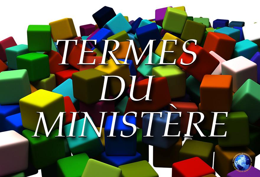 Termes Du Ministere