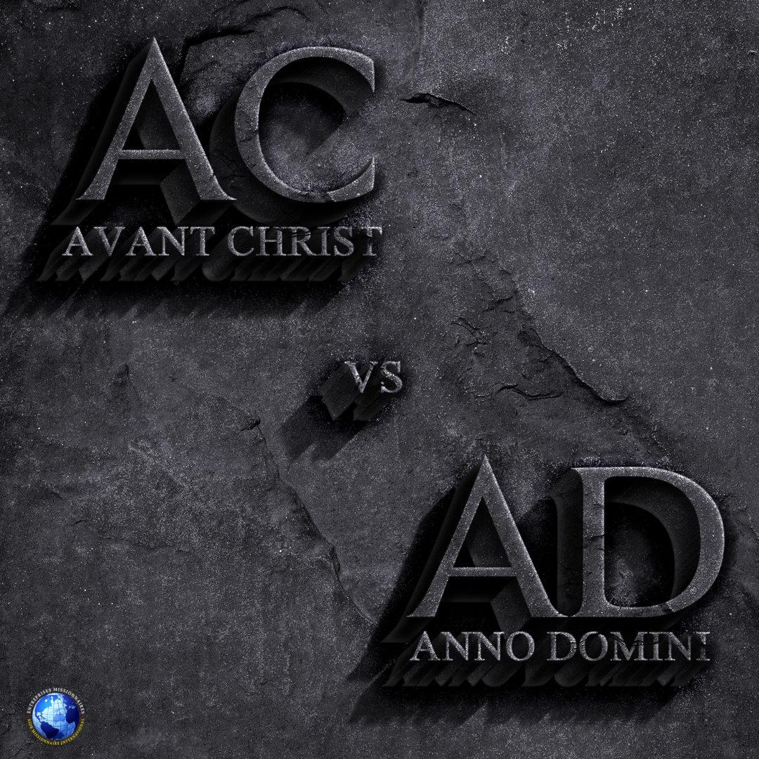 Avant Christ vs Anno Domini