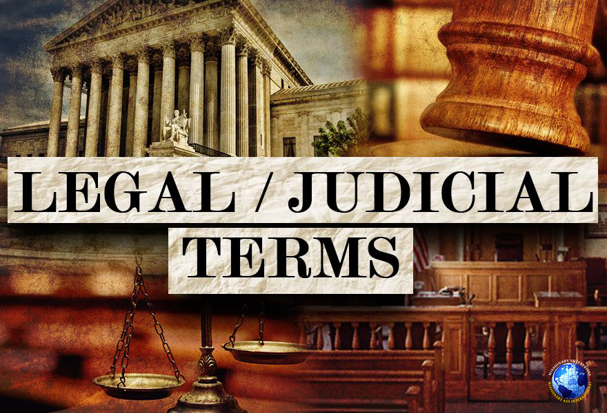Legal-Judicial  Terms